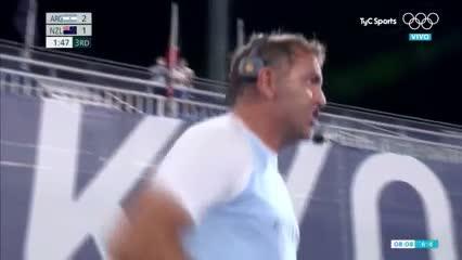 Tolini marcó el 3 a 1 de arrastrada