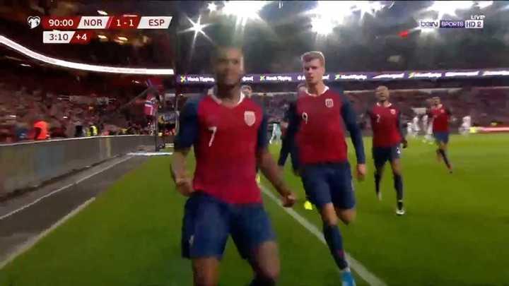Noruega lo empató en el final