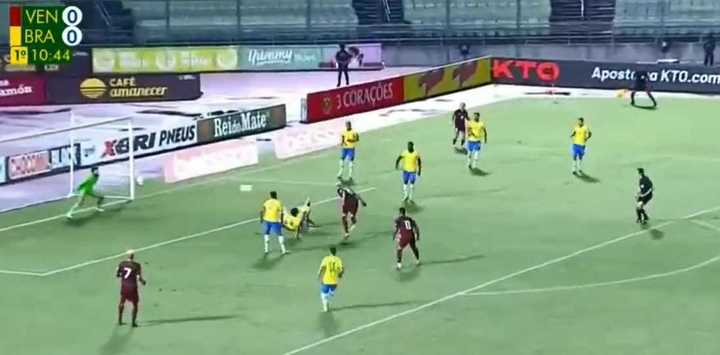 El gol de Venezuela a Brasil