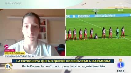 Paula Depena habló de su no homenaje a Diego