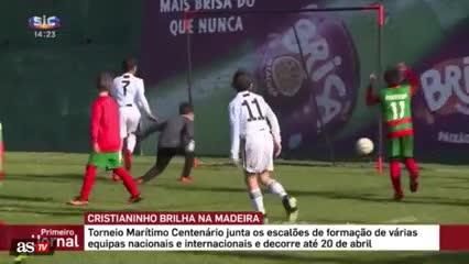 Goles del hijo de Cristiano Ronaldo
