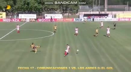El 1-0 de Comunicaciones a Los Andes