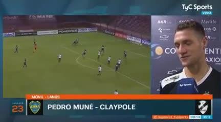 "Muné a Mas: ""Me sacaste el gol de mi vida"""