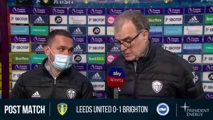 El análisis de Bielsa post 0-1 de Leeds vs. Brighton