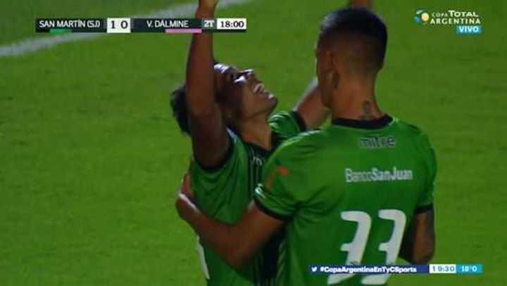Osorio puso el 1 a 0 de san Martín de San Juan