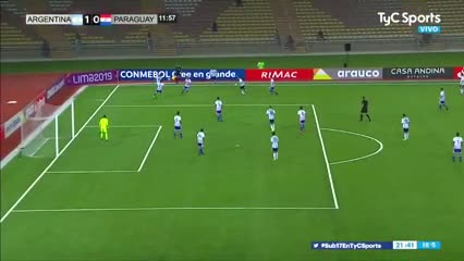 El 1-0 de Argentina ante Paraguay