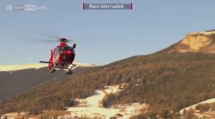 Marc Gisin fue llevado inmediatamente en helicóptero a un hospital cercano