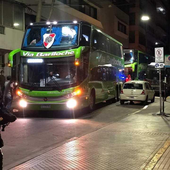 La llegada de River a Rosario