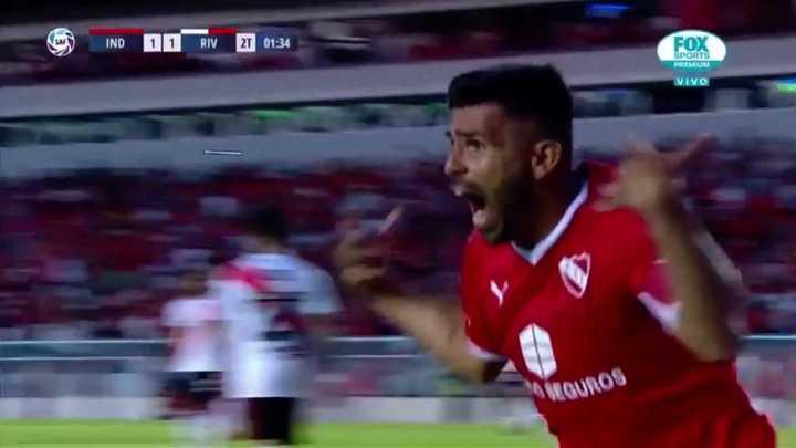 Romero marcó el empate de Independiente