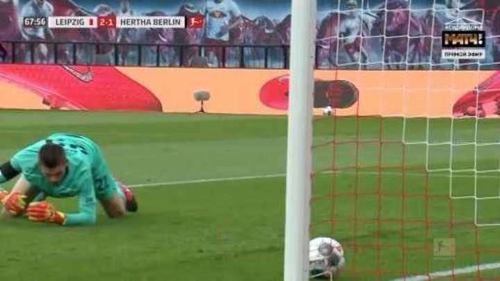 Schick marcó el 2 a 1 de Leipzig sobre Hertha Berlin