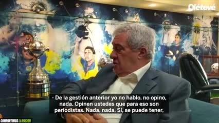 El presidente de Boca contó detalles de su reunión con D'Onofrio
