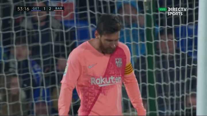 Lo tuvo Messi con la derecha