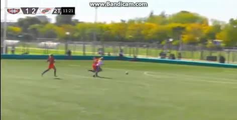 El gol y festejo de Fanny Rodríguez