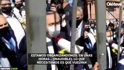 Así intentó calmar a la gente Alberto Fernández