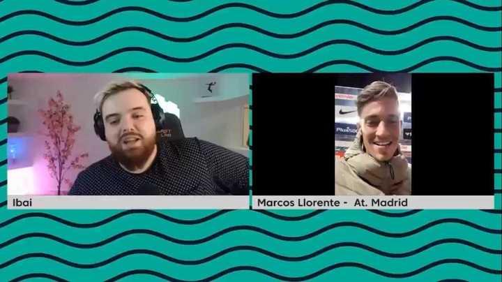 La imperdible entrevista post partido de Ibai con Marcos Llorente