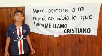 El saludo de Cristiano a Messi