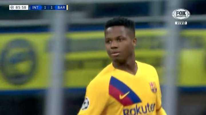Fati puso el 2 a 1 del Barcelona