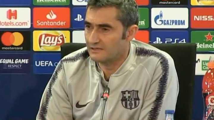 Valverde confirmó que Messi está bien para enfrentar al United.