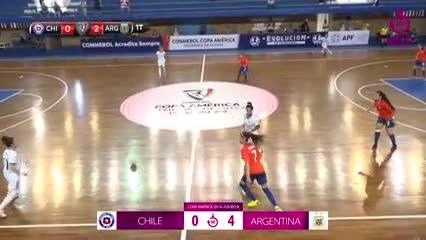 La Selección Argentina femenina de futsal goleó 4-0 a Chile por la Copa América
