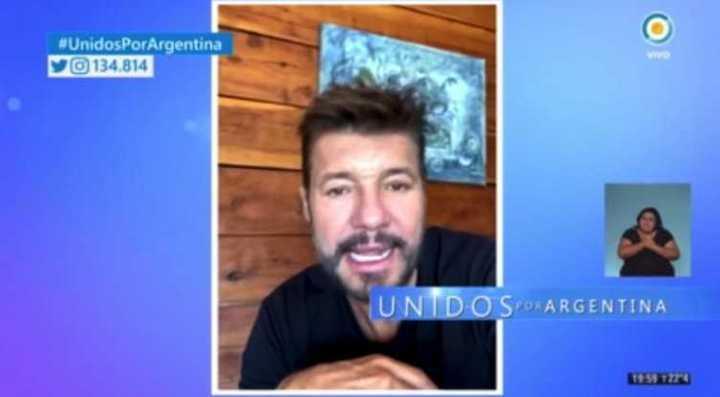 El mensaje de Marcelo Tinelli en Unidos por Argentina
