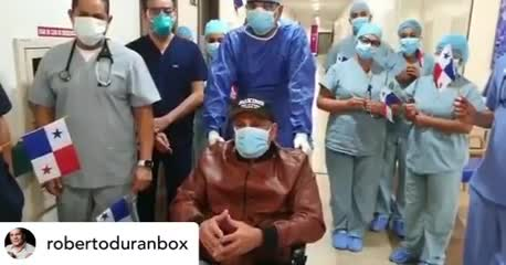 La salida de Durán del hospital