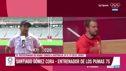 La emoción de Gomez Cora tras el triunfo de Los Pumas 7's