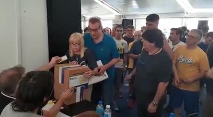 Antonio Rattin votó al igual que su esposa