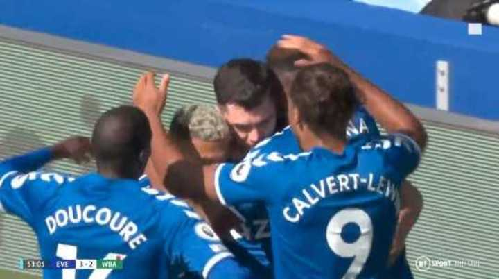 El Everton le ganó 5 a 2 al West Bromwich