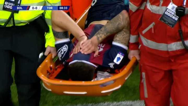 La lesión de Nico Domínguez