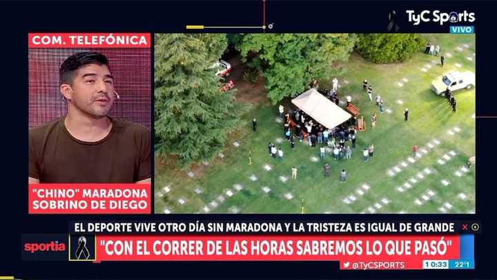 Chino Maradona habló acerca de cómo piensa que falleció Diego