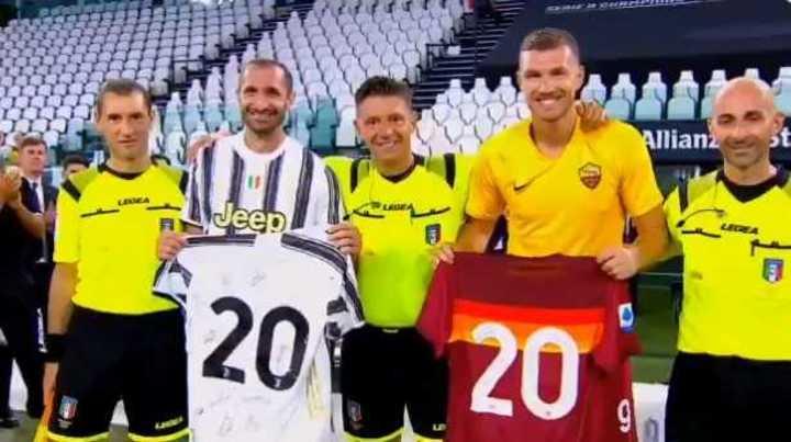 La emotiva espedida al árbitro de Juventus-Roma