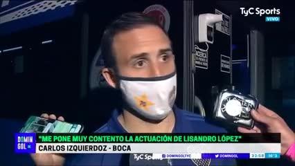 Izquierdoz contó qué le dijo Licha López por su gol en contra