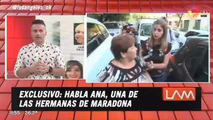 Habló Ana Maradona y criticó a Dalma y a Giannina