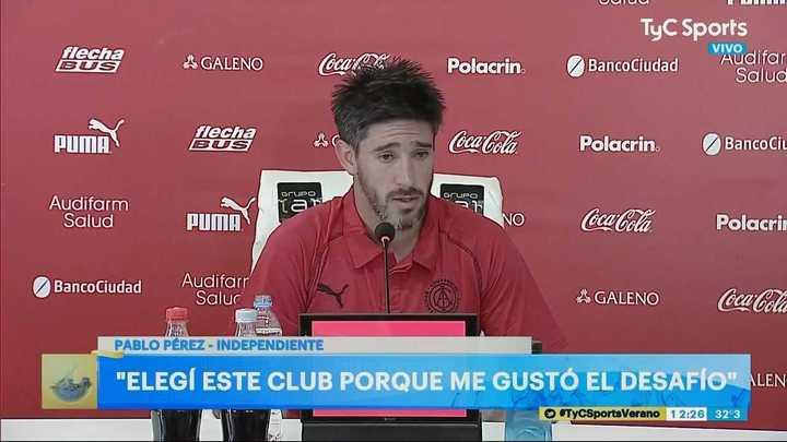 """""""Espero lograr un título con Independiente"""""""