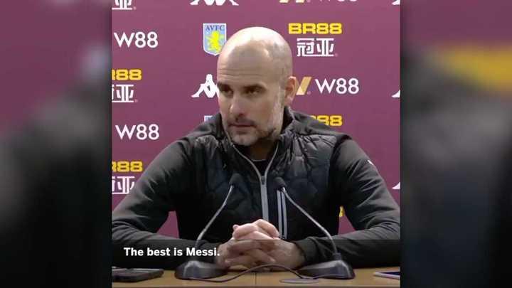 Pep elogió a Messi, y también a Agüero