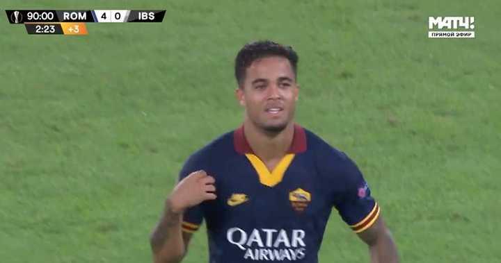 Kluivert psuo el 4 a 0 de la Roma