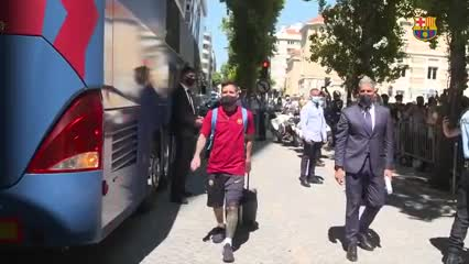 Así recibieron a Messi en Lisboa