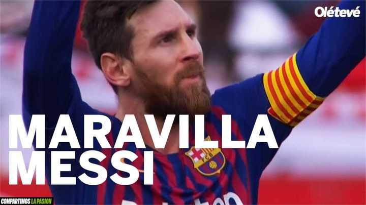Los goles de Messi frente al Sevilla