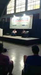 Russo en un congreso en Rosario