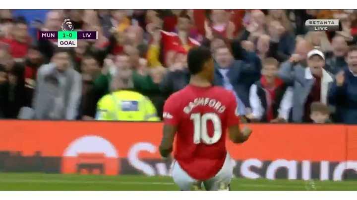 El polémico gol de Rashford ante Liverpool