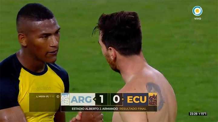 El cambio de camiseta de Messi