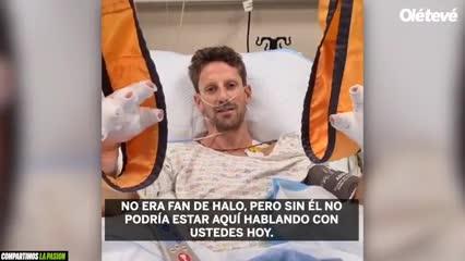 Grosjean desde el hospital