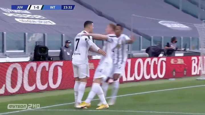 El gol de CR7 ante Inter