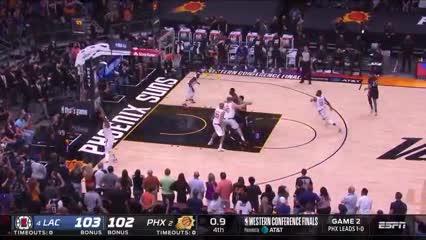 La jugada que definió el partido para Suns