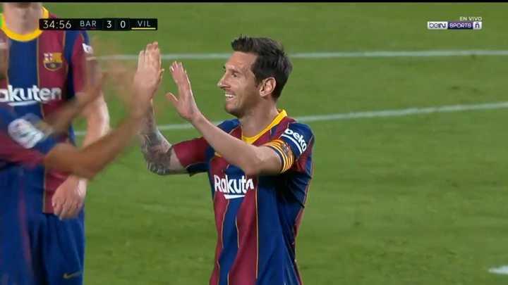 Lionel Messi arcó el tercero de penal