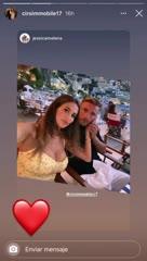 Immobile, de vacaciones con Jessica Melena.}