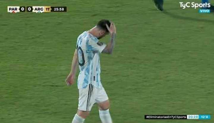 Messi recupera en área de Argentina