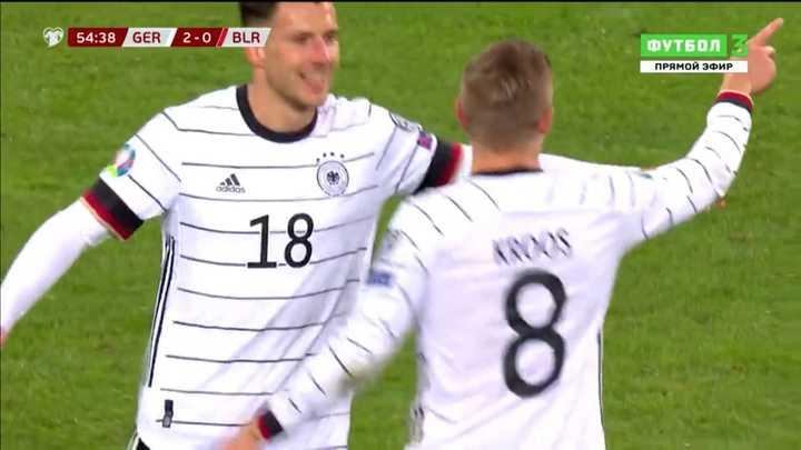 Mirá los tantos de la goleada de Alemania a Bielorrusia