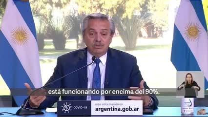 """Alberto dijo que en Argentina """"no existe una cuarentena"""""""