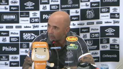 Sampaoli en la conferencia de prensa
